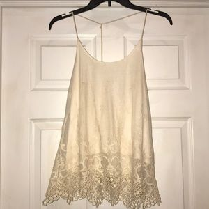 Paper + tee halter lace shirt